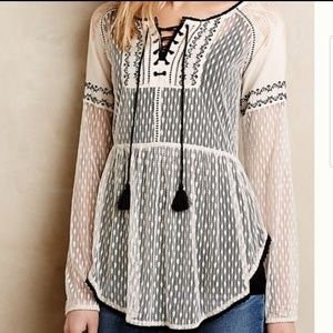 Anthropology Hazel is lace top